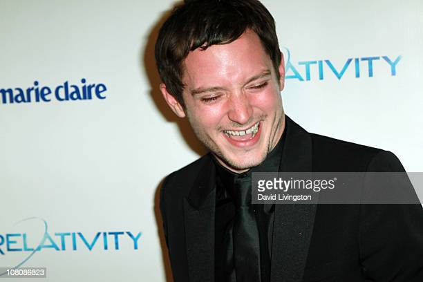 Actor Elijah Wood arrives at The Weinstein Company And Relativity Media's 2011 Golden Globe Awards Party held at The Beverly Hilton hotel on January...