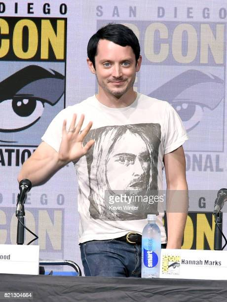 Actor Elijah Wood at Dirk Gently's Holistic Detective Agency: BBC America Official Panel during Comic-Con International 2017 at San Diego Convention...