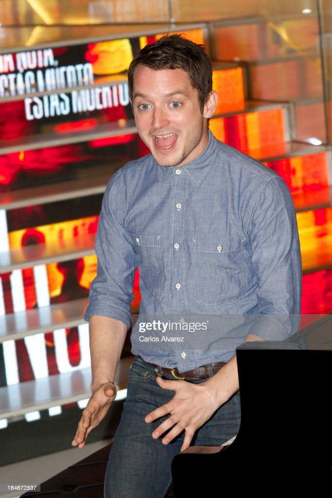 Actor Elijah Wood attends 'Grand Piano' photocall at the Telefonica Gran Via Store on October 15, 2013 in Madrid, Spain.