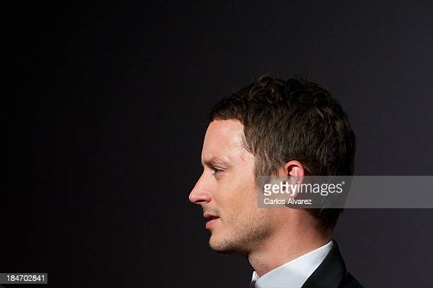 Actor Elijah Wood attends 'Grand Piano' premiere at the Callao cinema on October 15 2013 in Madrid Spain