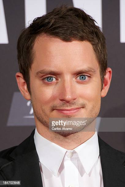 """Actor Elijah Wood attends """"Grand Piano"""" premiere at the Callao cinema on October 15, 2013 in Madrid, Spain."""
