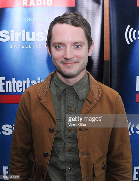 Actor Elijah Wood attends SiriusXM's Entertainment Weekly Radio Channel Broadcasts From ComicCon 2015 at Hard Rock Hotel San Diego on July 9 2015 in...