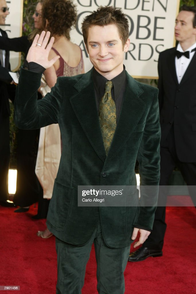 Actor Elijah Wood attends the 61st Annual Golden Globe Awards at the Beverly Hilton Hotel on January 25, 2004 in Beverly Hills, California.