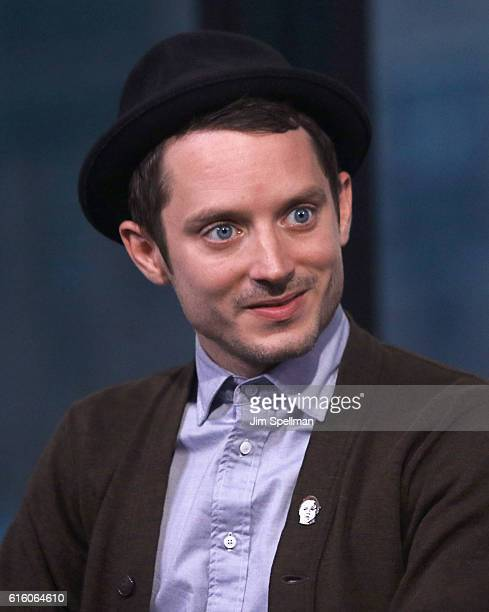 """Actor Elijah Wood attends The Build Series Presents to discuss """"Dirk Gently's Holistic Detective Agency"""" at AOL HQ on October 21, 2016 in New York..."""