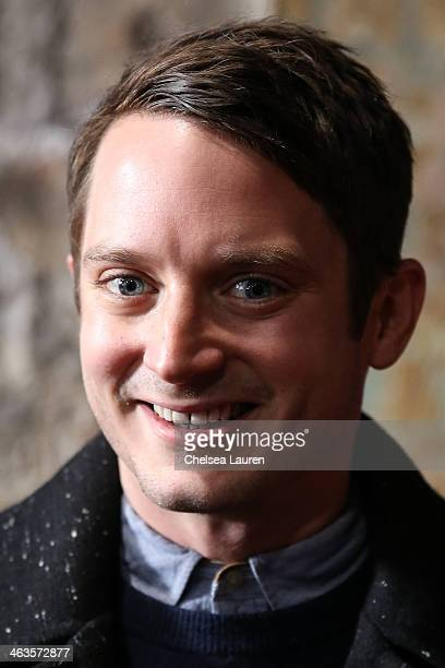 Actor Elijah Wood attends the Day For Night Video Lounge at Huffington Post In ChefDance Space on January 18 2014 in Park City Utah