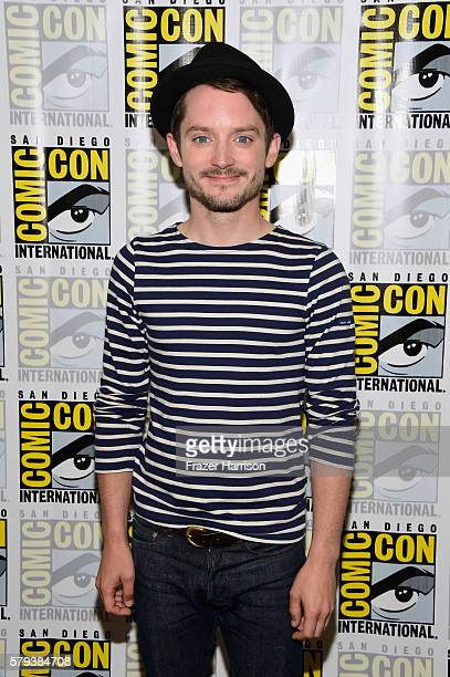 Actor Elijah Wood attends the Dirk Gently press line during ComicCon International on July 23 2016 in San Diego California