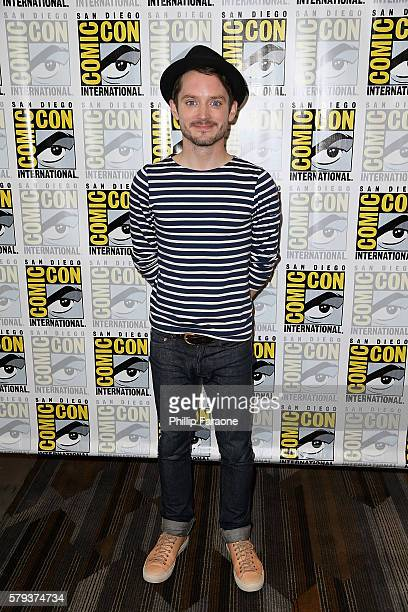 Actor Elijah Wood attends the 'Dirk Gently's' press line during ComicCon International 2016 on July 23 2016 in San Diego California