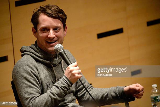 Actor Elijah Wood attends The Film Society Of Lincoln Center Presents 'Free Talks An Evening With Elijah Wood' at Elinor Bunin Munroe Film Center on...