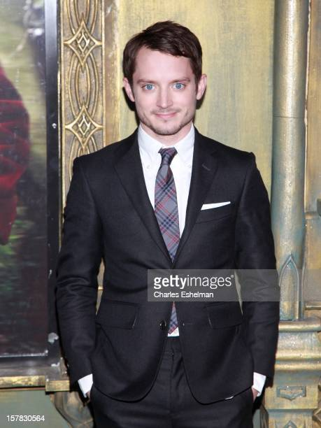 Actor Elijah Wood attends 'The Hobbit An Unexpected Journey' premiere at the Ziegfeld Theater on December 6 2012 in New York City