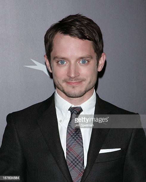 """Actor Elijah Wood attends """"The Hobbit: An Unexpected Journey"""" premiere at the Ziegfeld Theater on December 6, 2012 in New York City."""