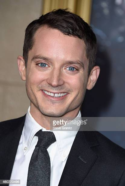 Actor Elijah Wood attends 'The Hobbit The Battle Of The Five Armies' Los Angeles Premiere at Dolby Theatre on December 9 2014 in Hollywood California