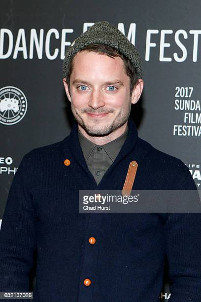"""Actor Elijah Wood attends the """"I Don't Feel At Home In This World Anymore"""" premiere during day 1 of the 2017 Sundance Film Festival at Eccles Center..."""