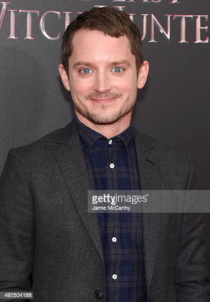 Actor Elijah Wood attends the New York premiere of 'The Last Witch Hunter' at AMC Loews Lincoln Square on October 13 2015 in New York City