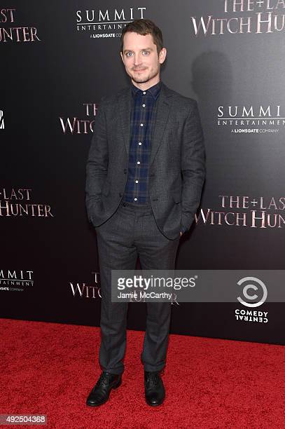 Actor Elijah Wood attends the New York premiere of The Last Witch Hunter at AMC Loews Lincoln Square on October 13 2015 in New York City