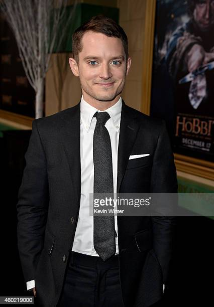 Actor Elijah Wood attends the premiere of New Line Cinema MGM Pictures and Warner Bros Pictures' The Hobbit The Battle of the Five Armies at Dolby...
