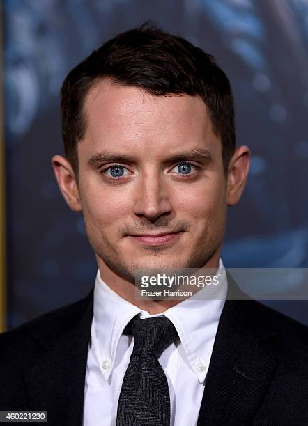 "Actor Elijah Wood attends the premiere of New Line Cinema, MGM Pictures And Warner Bros. Pictures' ""The Hobbit: The Battle Of The Five Armies"" at..."