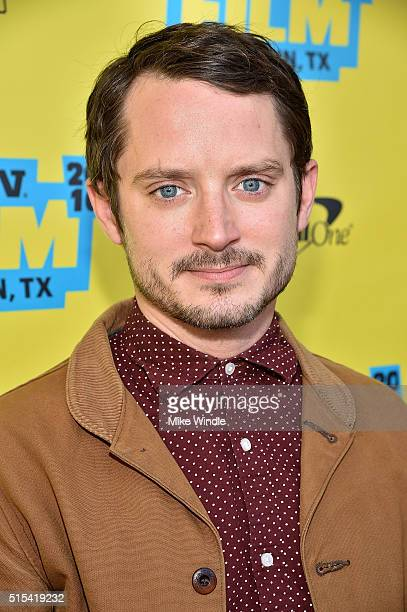 Actor Elijah Wood attends the screening of The Trust during the 2016 SXSW Music Film Interactive Festival at Paramount Theatre on March 13 2016 in...