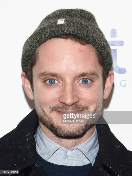 Actor Elijah Wood attends the WanderLuxxe House with Apex Social Club presents 'Mandy' after party presented by OTTLending during Sundance 2018 on...
