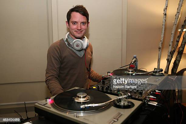Actor Elijah Wood celebrates director Neil LaBute's 10 x 10 shorts hosted by DIRECTV on January 17 2014 in Park City Utah