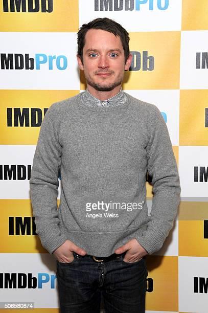 Actor Elijah Wood in The IMDb Studio In Park City Utah Day Three on January 24 2016 in Park City Utah