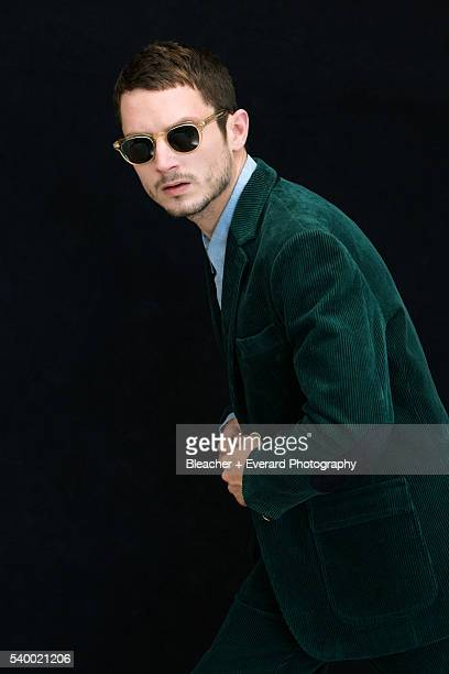 Actor Elijah Wood is photographed for August Man on July 10 2012 in Los Angeles California Styling Danielle Nachmani Grooming LisaRaquel Baines...
