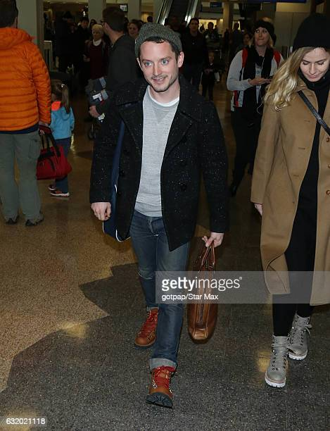 Actor Elijah Wood is seen on January 18 2017 in Salt Lake City Utah