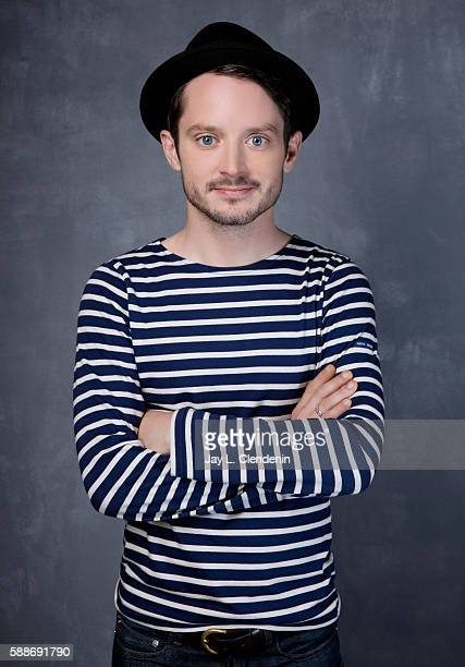 Actor Elijah Wood of 'Dirk Gently' is photographed for Los Angeles Times at San Diego Comic Con on July 22 2016 in San Diego California