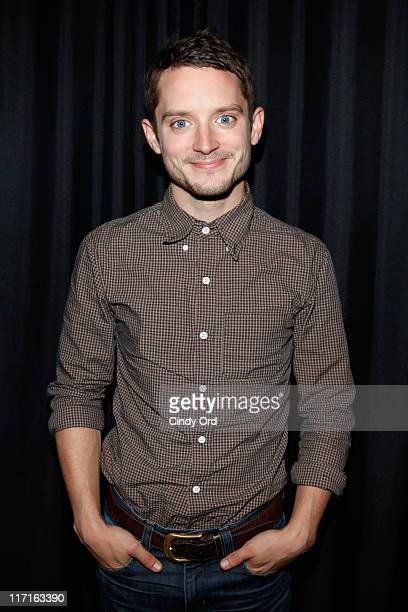 Actor Elijah Wood visits the Apple Store Soho on June 23, 2011 in New York City.
