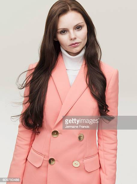 Actor Eline Powell is photographed for the Sunday Times on December 10 2015 in London England