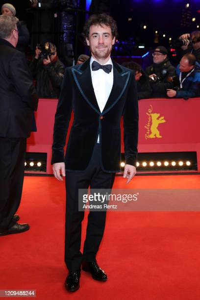 Actor Elio Germano arrives for the closing ceremony of the 70th Berlinale International Film Festival Berlin at Berlinale Palace on February 29 2020...