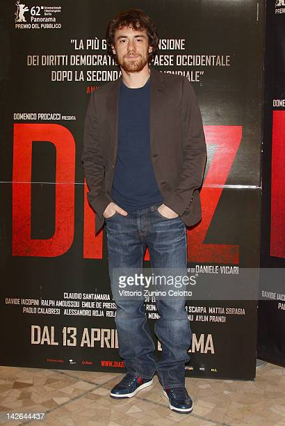Actor Elio Germano attends 'Diaz Don't Clean Up This Blood' premiere on April 10 2012 in Milan Italy