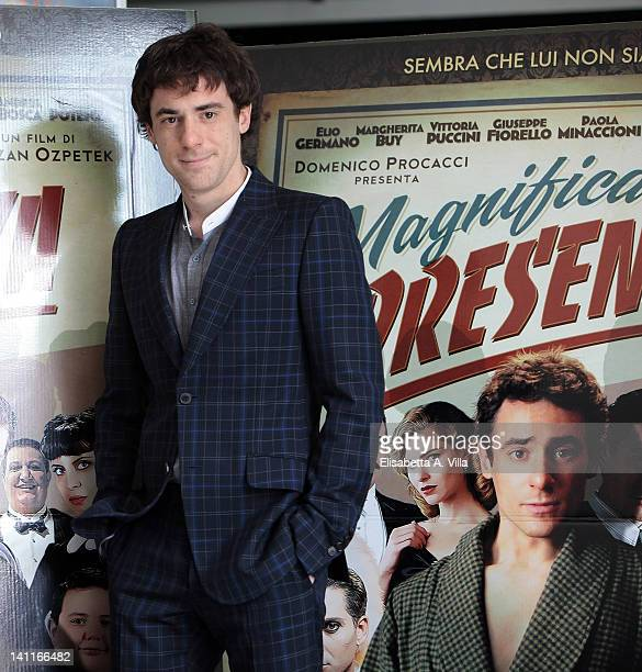 Actor Elio Germano attends 'Magnifica Presenza' photocall at Adriano Cinema on March 12 2012 in Rome Italy