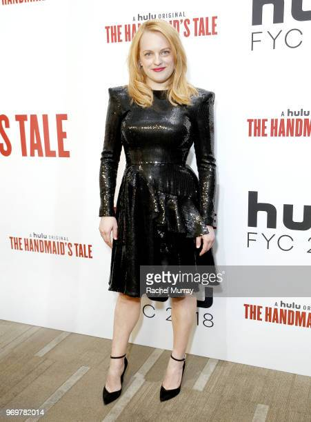 Actor Elisabeth Moss arrives at Hulu's The Handmaid's Tale FYC at Samuel Goldwyn Theater on June 7 2018 in Beverly Hills California