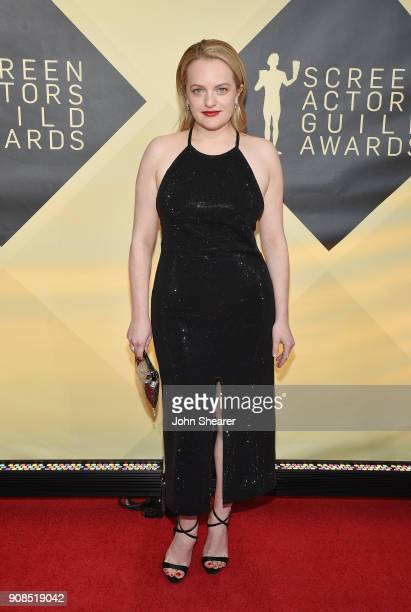 Actor Elisabeth Moss attends the 24th Annual Screen Actors Guild Awards at The Shrine Auditorium on January 21 2018 in Los Angeles California