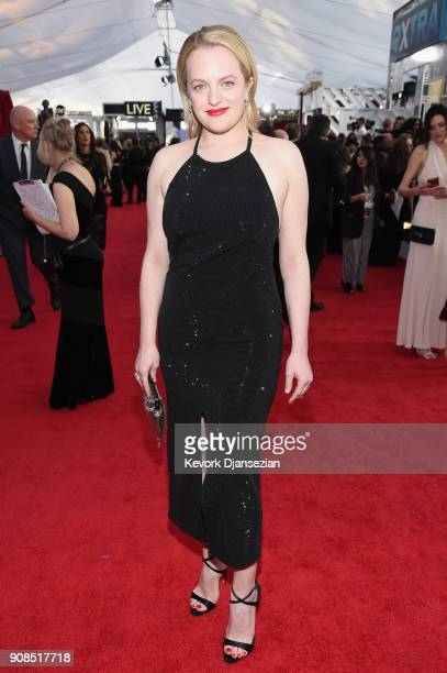 Actor Elisabeth Moss attends the 24th Annual Screen ActorsGuild Awards at The Shrine Auditorium on January 21 2018 in Los Angeles California