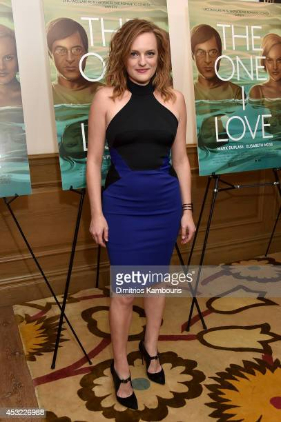 Actor Elisabeth Moss attends The One I Love New York Screening at the Crosby Street Theater on August 5 2014 in New York City