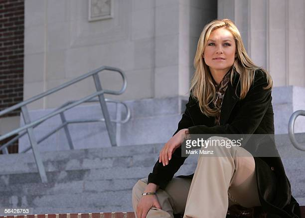 Actor Elisabeth Rohm teams up with Step Up Womens Network and the Cancer research and Prevention Foundation with support from Merck to film a public...