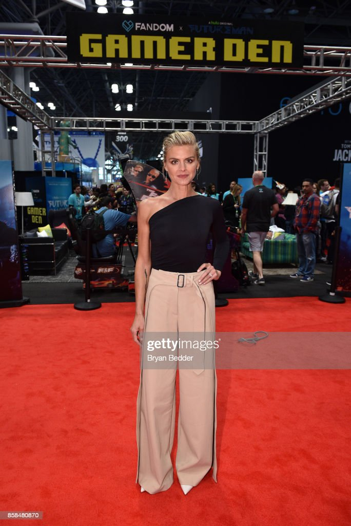 Actor Eliza Coupe attends the FANDOM Fest during New York Comic Con on October 6, 2017 in New York City.