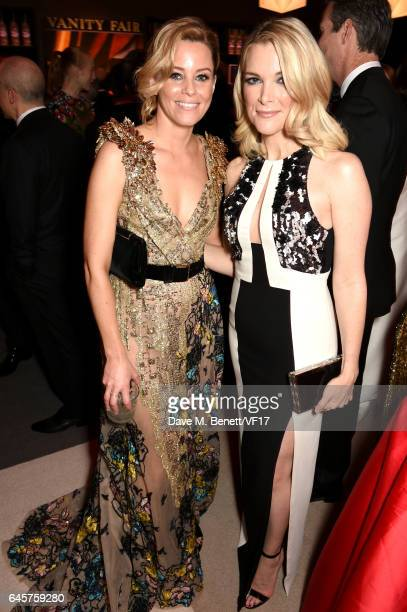 Actor Elizabeth Banks and journalist Megyn Kelly attend the 2017 Vanity Fair Oscar Party hosted by Graydon Carter at Wallis Annenberg Center for the...