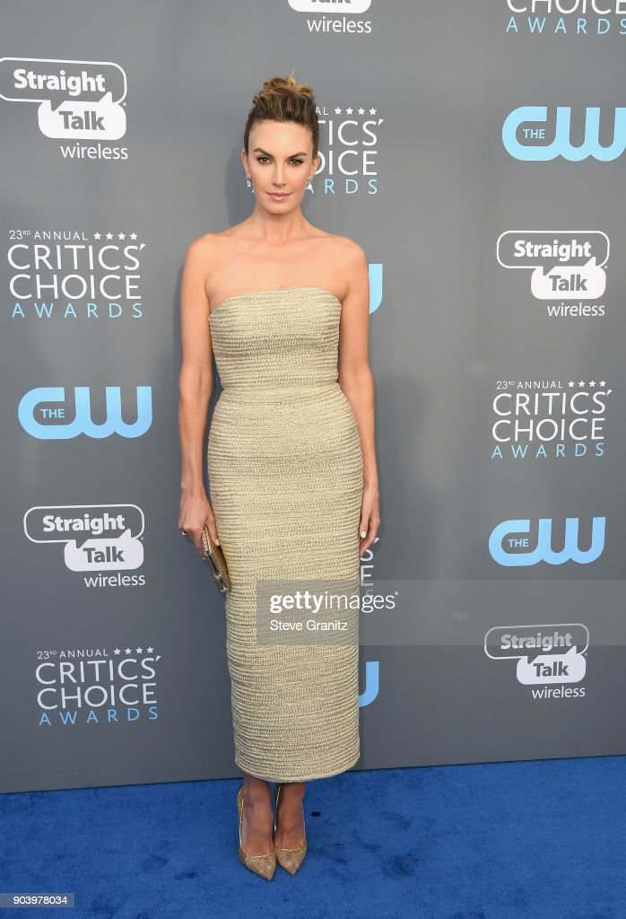 Actor Elizabeth Chambers attends The 23rd Annual Critics' Choice Awards at Barker Hangar on January 11, 2018 in Santa Monica, California.