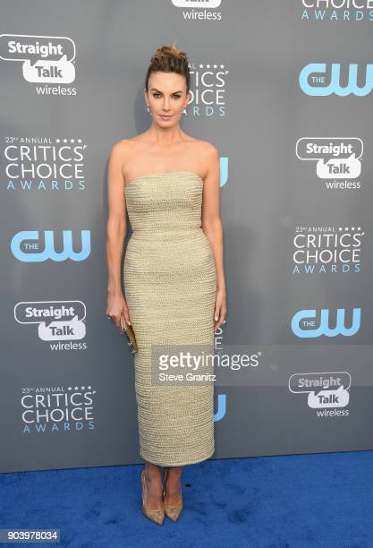 Actor Elizabeth Chambers attends The 23rd Annual Critics' Choice Awards at Barker Hangar on January 11 2018 in Santa Monica California