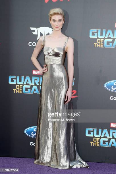 Actor Elizabeth Debicki at the premiere of Disney and Marvel's Guardians Of The Galaxy Vol 2 at Dolby Theatre on April 19 2017 in Hollywood California