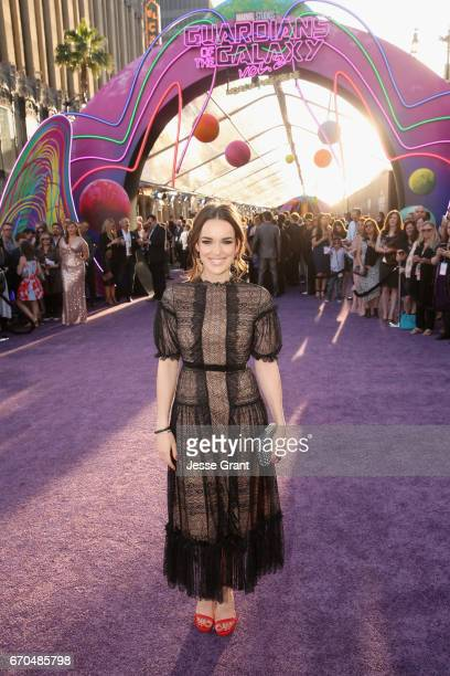 "Actor Elizabeth Henstridge at The World Premiere of Marvel Studios' ""Guardians of the Galaxy Vol 2"" at Dolby Theatre in Hollywood CA April 19th 2017"