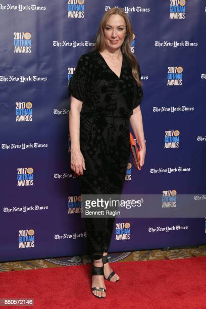 Actor Elizabeth Marvel attends the 2017 Gotham Awards sponsored by Greater Ft Lauderdale Tourism at Cipriani Wall Street on November 27 2017 in New...