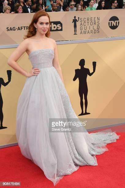 Actor Elizabeth McLaughlin attends the 24th Annual Screen ActorsGuild Awards at The Shrine Auditorium on January 21 2018 in Los Angeles California