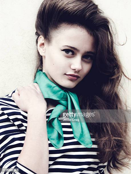 Actor Ella Purnell is photographed for Flaunt Magazine on October 20 2010 in London England