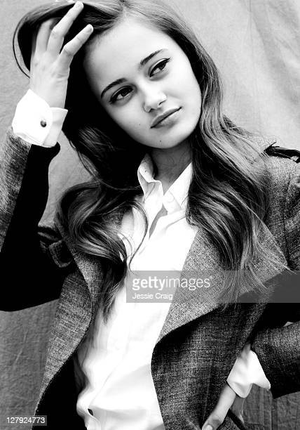 Actor Ella Purnell is photographed for That magazine on May 15 2011 in London England