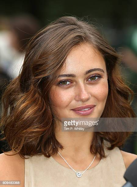 Actor Ella Purnell poses for a photo during a photocall for Tim Burton's 'Miss Peregrines Home For Peculiar Children' at Potters Field Park on...
