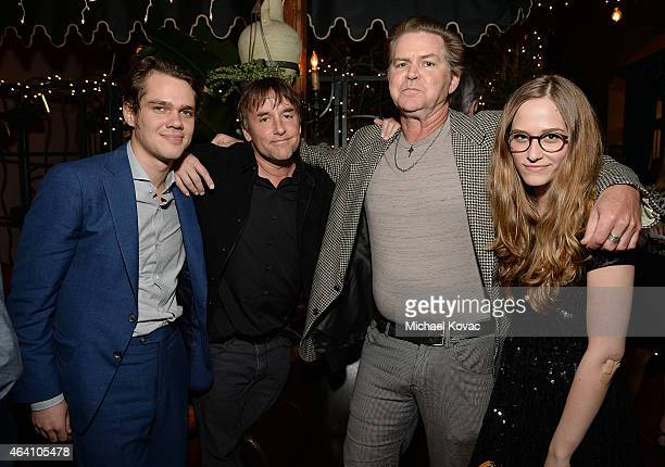 Actor Ellar Coltrane and director Richard Linklater actor Bill Wise and actress Zoe Graham attend the AMC Networks and IFC Films Spirit Awards After...