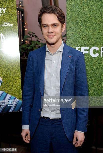 Actor Ellar Coltrane attends the AMC Networks and IFC Films Spirit Awards After Party on February 21 2015 in Santa Monica California